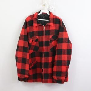 50s Woolrich Mens Large Buffalo Plaid Wool Jacket